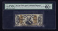 Fractional Currency:Third Issue, Fr. 1330aSP 50¢ Third Issue Spinner Narrow Margin Face PMG Uncirculated 60 Net.. ...