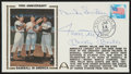 Baseball Collectibles:Others, Mickey Mantle, Willie Mays and Duke Snider Multi Signed First DayCover....