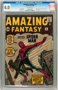 Amazing Fantasy #15 (Marvel, 1962) CGC VG 4.0 Off-white pages