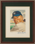 Baseball Collectibles:Photos, Mickey Mantle Signed Art from the 1953 Topps Set. ...