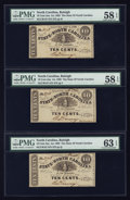 Obsoletes By State:North Carolina, Raleigh, NC- State of North Carolina 10¢ Three Examples Jan. 1, 1863. ... (Total: 3 notes)