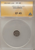 Colombia, Colombia: Ferdinand VII 1/4 Real 1812-NR,...