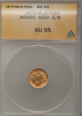 Mexico, Mexico: Republic Pair of gold 1 Peso, ... (Total: 2 coins)