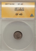 Colombia, Colombia: Bogota 2 Piece Lot of 5 Centavos,... (Total: 2 coins)