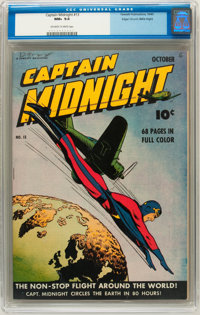 Captain Midnight #13 Mile High pedigree (Fawcett, 1943) CGC NM+ 9.6 Off-white to white pages