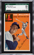 Baseball Cards:Singles (1950-1959), 1954 Topps Ted Williams #1 SGC 86 NM+ 7.5....