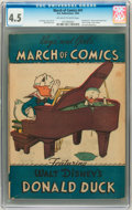 Golden Age (1938-1955):Funny Animal, March of Comics #41 Donald Duck (K. K. Publications, Inc., 1949)CGC VG+ 4.5 Off-white to white pages....