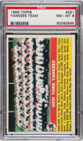 Baseball Cards:Singles (1950-1959), 1956 Topps New York Yankees #251 PSA NM-MT 8....