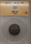 Haiti, Haiti: Republic Pair of One Centime 1846,... (Total: 2 coins)