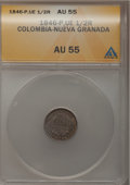 Colombia, Colombia: Popayan 1/2 Real Twins from 1846,... (Total: 2 coins)