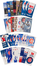 Baseball Collectibles:Publications, 1940-1994 Chicago Cubs Press Guides and Record Books Lot of 45....