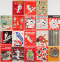 Baseball Collectibles:Publications, 1954-80 Cincinnati Reds Yearbooks Lot of 18....