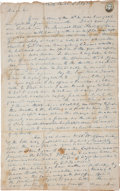 "Autographs:U.S. Presidents, William Henry Harrison Autograph Letter Signed ""W. H.Harrison."" Two and three-quarter pages, 7.5"" x 12.5"", NorthBe..."