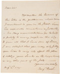 "Autographs:Statesmen, Benjamin Rush Autograph Letter Signed. One page with integral address leaf, 7.25"" x 9"", n.p., August 2, 1795. Founding fathe..."