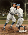 Baseball Collectibles:Others, 2009 Tinker & Evers Original Artwork by Darryl Vlasak....