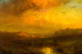 Fine Art - Painting, American:Modern  (1900 1949)  , CHARLES P. APPEL (American, 1857-1928). Golden Sunset. Oilon canvas . 20 x 30 inches (50.8 x 76.2 cm). Signed lower lef...