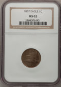 Flying Eagle Cents: , 1857 1C MS62 NGC. NGC Census: (271/1572). PCGS Population(375/1838). Mintage: 17,450,000. Numismedia Wsl. Price forproble...