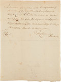 "Autographs:Statesmen, George Clymer Autograph Document Signed. One page, 5.75"" x 7.75"",Philadelphia, December 14, 1807. ..."