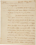 "Autographs:Statesmen, Elbridge Gerry Autograph Letter Signed. Two pages with integraladdress leaf, 7.25"" x 9.25"", Cambridge, May 6, 1802...."