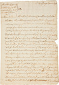 Autographs:Statesmen, Richard Stockton Legal Document Signed....