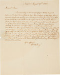"Autographs:Statesmen, William Ellery Autograph Letter Signed. One page with integraladdress leaf, 7.75"" x 9.75"", ""Newport, August 2..."