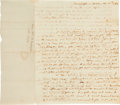 Autographs:U.S. Presidents, Martha Washington Autograph Letter Signed as First Lady ...