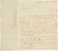 Martha Washington Autograph Letter Signed as First Lady