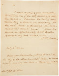 "Autographs:U.S. Presidents, Dolley Madison Autograph Letter Signed as First Lady. One page,7.5"" x 9.75"", n.p., July 6, 1811. Addressed to Dr. Jonathan ..."
