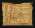 Colonial Notes:Continental Congress Issues, Continental Currency September 26, 1778 $50 Damaged Fine,Laminated.. ...