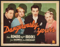 """Movie Posters:Crime, Dangerously Yours (20th Century Fox, 1937). Title Lobby Card (11"""" X14""""). Crime.. ..."""