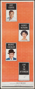 """Movie Posters:Romance, Love in the Afternoon (Allied Artists, 1957). Insert (14"""" X 36""""). Romance.. ..."""