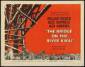 "Movie Posters:War, The Bridge On The River Kwai (Columbia, 1958). Half Sheet (22"" X 28""). Style A. War.. ..."
