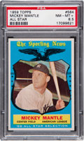 Baseball Cards:Singles (1950-1959), 1959 Topps Mickey Mantle All Star #564 PSA NM-MT+ 8.5....