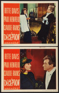 """Movie Posters:Crime, Deception (Warner Brothers, 1946). Lobby Cards (2) (11"""" X 14"""").Crime.. ... (Total: 2 Items)"""