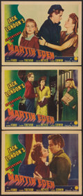 "Movie Posters:Adventure, The Adventures of Martin Eden (Columbia, 1942). Lobby Cards (3)(11"" X 14""). Adventure.. ... (Total: 3 Items)"
