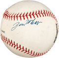 Autographs:Baseballs, 1960's Zack Wheat Signed Baseball....