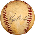 Autographs:Baseballs, 1961 Roger Maris Signed Baseball Used in 61st Home Run Game....