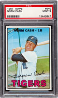 Baseball Cards:Singles (1960-1969), 1967 Topps Norm Cash #540 PSA Mint 9 - Highest Grade Known!...