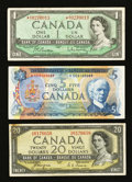 Canadian Currency: , Bank of Canada Group Lot.. ... (Total: 3 notes)