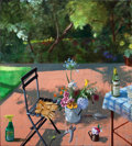 Post-War & Contemporary:Contemporary, PAUL WONNER (American, 1920-2008). Terrace with Spray Bottle andGarden Gloves (2nd Version), 1996. Acrylic on canvas. 6...