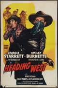 """Movie Posters:Western, Heading West (Columbia, 1946). One Sheet (27"""" X 41""""). Western.. ..."""