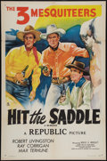 "Movie Posters:Western, Hit the Saddle (Republic, R-1940s). One Sheet (27"" X 41"").Western.. ..."