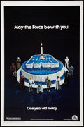 "Movie Posters:Science Fiction, Star Wars (20th Century Fox, 1977). One Sheet (27"" X 41""). HappyBirthday Style. Science Fiction.. ..."