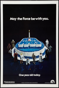 "Star Wars (20th Century Fox, 1977). One Sheet (27"" X 41""). Happy Birthday Style. Science Fiction"