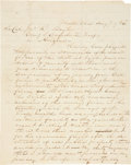 "Autographs:Military Figures, Albert Sidney Johnston Autograph Letter Signed. One page (lined paper), penned on recto and verso, 7.75"" x 9.75"", Mesilla, A..."