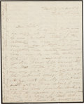 """Autographs:U.S. Presidents, Jane Pierce Autograph Letter Signed as First Lady. Four pages onmourning stationery, 6.5"""" x 8"""", Washington DC, """"Dec. '54..."""