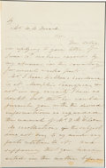 "Autographs:U.S. Presidents, Sarah Childress Polk Autograph Letter Signed. Two pages, onblack-bordered mourning stationery, 4.5"" x 7"", ""Polk Place,Na..."