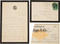 """Autographs:U.S. Presidents, Lucretia Garfield Autograph Letter Signed """"Lucretia R. Garfield."""" Two and one-half pages, 4.25"""" x 6.25"""", Cleveland, Ohio... (Total: 3 Items)"""
