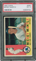 Baseball Cards:Singles (1960-1969), 1960 Topps Mickey Mantle #350 PSA EX 5....
