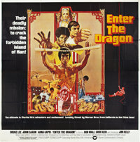 "Enter the Dragon (Warner Brothers, 1973). Six Sheet (81"" X 81"")"